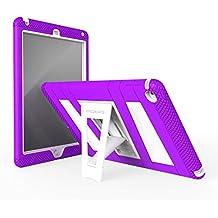 MoKo Funda para iPad Air 2 - Plegable Silicona Durable Protector con Función de Soporte Trasera Dura Cover Case Para Apple iPad Air 2 (iPad 6) 9.7 Pulgadas Tableta, VIOLETA