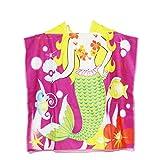 Welba-Toddler Telo da bagno in spiaggia con cappuccio Shark Soft Swim Pool Coverup Poncho Cape per ragazzi Bambini Bambini 1-12 anni accappatoio