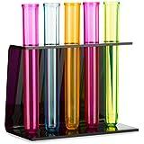 Noir Support pour verre à tubes 5de à liqueur pinnchen en couleurs fluo multicolores–25ml Volume par Verre à liqueur & # x2713; avec fermeture & # x2713;