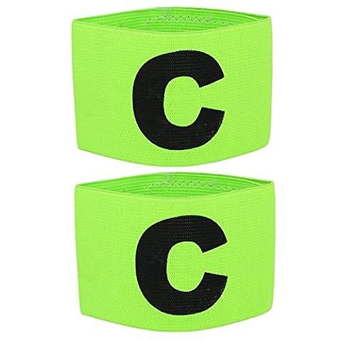 TOOGOO(R) 2x Elastic C Prints Football Soccer Player Captain Armband