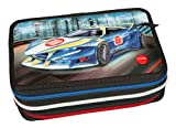Depesche 10246 - Federtasche 3 fach, Monster Cars, mit LED