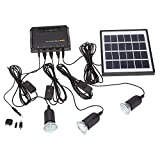 Docooler 4W Solar Powered Lampe Wandleuchte Panel 3 LED Licht Lmap USB 5V Zelle...