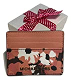Michael Kors Jet Set Travel LG Card Holder Case (Peach Floral)