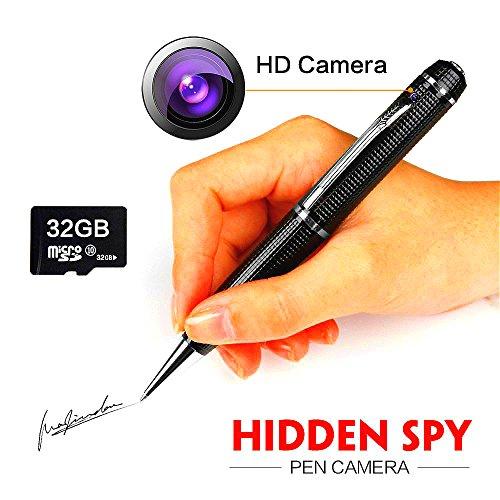 Tkstar 1080p.microspia penna registratore con videocamera spia nascosta, scheda sd da 32 gb, real di video hd