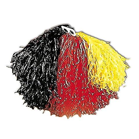 Widmann 1098G - Pom Pom, schwarz / rot / gelb