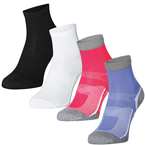 5 or 3 Pack Quarter Pro Athletic Socks by DANISH ENDURANCE, Running Socks for Women & Men, Sneakers, Sports, Fitness, Everyday Use