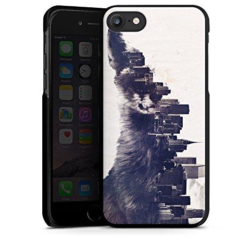 Apple iPhone X Silikon Hülle Case Schutzhülle Fuchs Urban City Hard Case schwarz