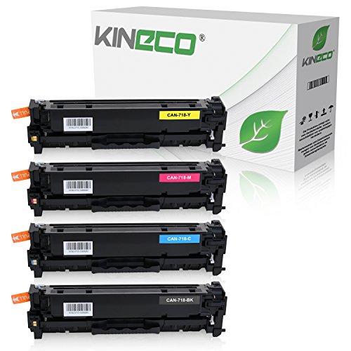 Preisvergleich Produktbild 4 Toner kompatibel zu Canon CRG 718 für Canon i-SENSYS MF724Cdw, LBP-7200, LBP-7600, LBP-7680, MF-8300, MF-8330, MF-8500 Series - Schwarz 3.500 Seiten, Color je 2.900 Seiten