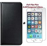 Delkart (combo Offer) Full Complete Flip Cover Plus 2.5D Curve Tempered Glass for Lenovo K3 Note (Black)