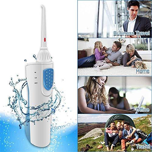 YLOVOW Batería Portátil Alimentado Eléctrico Dental Oral Irrigador De Agua Sin Cable Flosser 2 Jet...