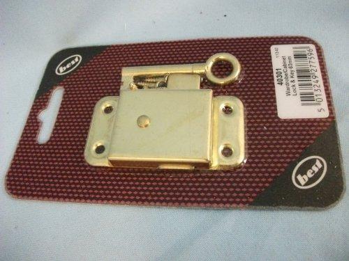 Kleiderschrank Schrank Schloss und Schlüssel 63 mm, Oberfläche aus Messing 40301