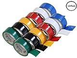 6 Rollen Elektroklebeband in verschiedenen Farben, je 18 mm x 2 m, 2 Packungen