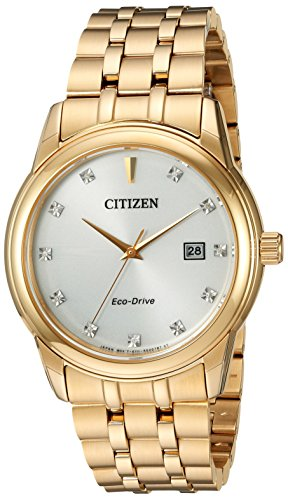 Citizen Men's 'PAIRS' Quartz Stainless Steel Casual Watch, Color:Gold-Toned (Model: BM7342-50A) image
