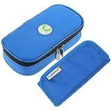 Vococal - Portatile Diabetico Organizzatore Borsa termica medicina Viaggio Caso Camping per Insulina Penna Siringhe Conservazione Marsupio Blu