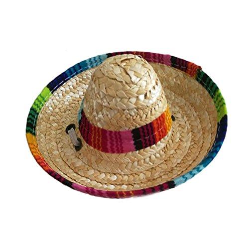 UEETEK Hund Sombrero Gap Hat Funny Hund Kostüm Chihuahua Kleidung Mexikanischen Party ()