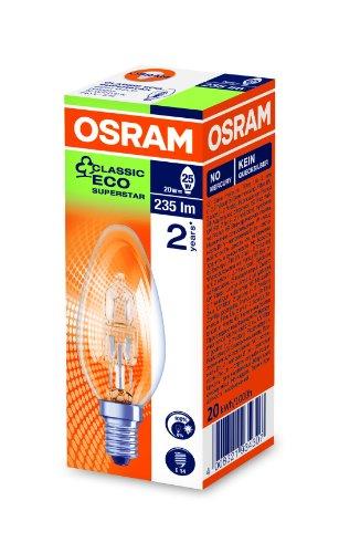 Osram Classic Eco Superstar - Ampoule halogène basse consommation culot Petite Vis E14, transparent) transparent