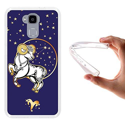 WoowCase Doogee Y6 4G Hülle, Handyhülle Silikon für [ Doogee Y6 4G ] Tierkreiszeichen Widder Handytasche Handy Cover Case Schutzhülle Flexible TPU - Transparent