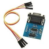 SODIAL (R) MAX3232 RS232 porta seriale TTL Convertitore Modulo DB9 connettore con 4 cavi di salto