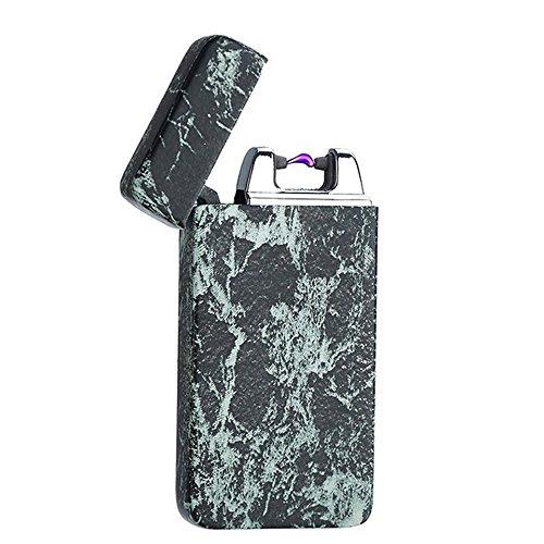 NANHUA encendedor creativo con arco de metal de pulso, recargable por USB y resistente al viento