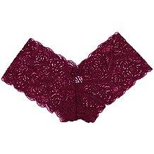ZARLLE Bikini brasileño descarado Lado Inferior Corbata Tanga baño bañador Mujeres Tanga brasileña Imprimir Bikini Bottom