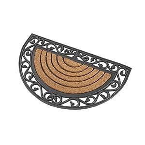 Kai Wiechmann Premium Fußmatte aus Gummi & Kokosfasern halbrund 76 x 46 cm robust & dekorativ