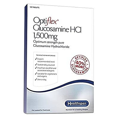 Optiflex Glucosamine HCl 1,500mg - 40% More Glucosamine Than Standard 2KCl - Healthspan - 120 Tablets by Healthspan