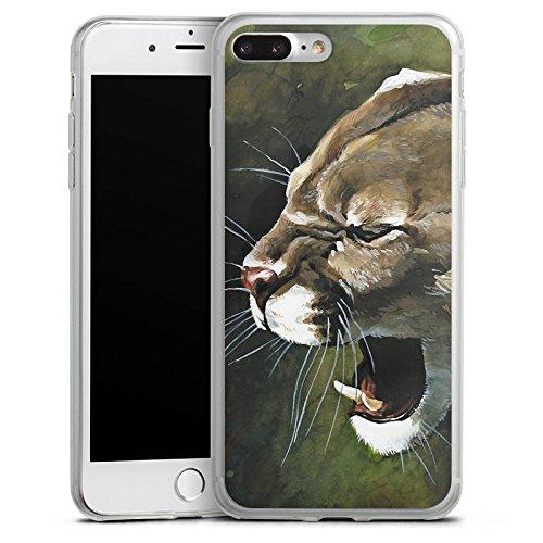 Apple iPhone X Slim Case Silikon Hülle Schutzhülle Puma Katze Zeichnung Silikon Slim Case transparent
