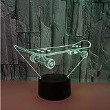 Crjzty Roller 3D Nachtlicht 7 Farbe Touch Remote Luzde Led 3D Schreibtischlampe Usb Schreibtischlampe Geschenk Für FreundLampka