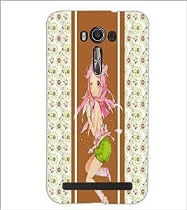 PrintDhaba Cute Girl D-2777 Back Case Cover for ASUS ZENFONE 2 LASER ZE550KL (Multi-Coloured)