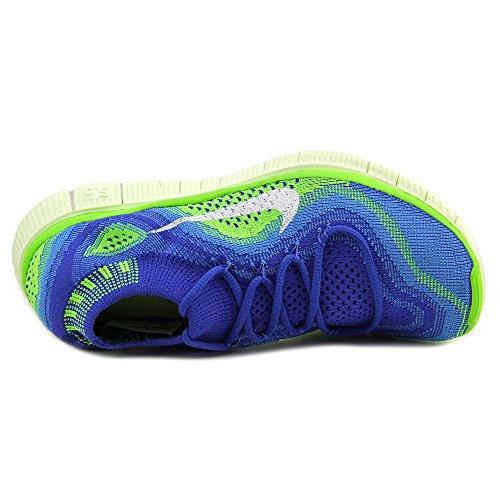 Nike Free Flyknit+ Toile Chaussure de Course Gm-Royal-Wht-Bl Glw-Elctrc Grn