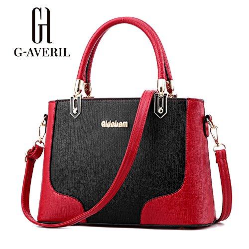 (G-AVERIL)nuovo pacchetto onda signore borsa Messenger Bag donne per le donne borsa nero1