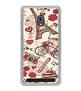 ifasho Designer Phone Back Case Cover Asus Zenfone 6 A600CG ( Red checks Pattern Design )