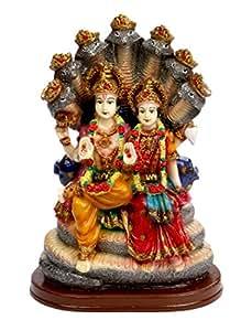 SUNNY CORPS™ Vishnu LAXMI Gift Statue Idol Showpiece Sculpture Murti LxHxW(cm) = 14x21x10