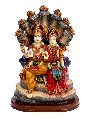 SUNNY CORPS Vishnu LAXMI Gift Statue Idol Showpiece Sculpture Murti LxHxW(cm) = 14x21x10