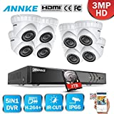 ANNKE 8CH 3MP DVR Kit videovigilancia Sistema de 8 Cámaras de seguridad 1920*1536P Metal con 2TB...