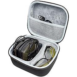 awesafe Protección auditiva, protección auditiva electrónica [Viene con una Bolsa de Estuche portátil de Almacenamiento de Viaje Duro], Orejeras de Seguridad, NRR 22, Ideal para Tiradores y Cazadores