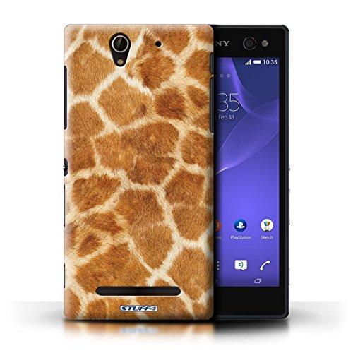 Kobalt® Imprimé Etui / Coque pour Sony Xperia C3 / Pourpre conception / Série Girafe animale Peau/Motif Orange