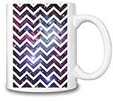 Nebula Chevron Coffee Mug Ceramic Coffee Tea Beverage Kitchen Mugs By Mama Brand