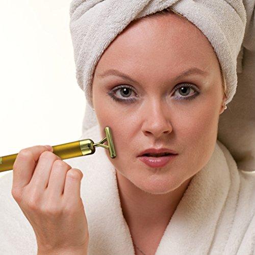 Anti-Aging Roller Vibration Gesicht massage Haut Kosmetisches Massagegerät Antifalten beauty Gold Gesichtsmuskulatur