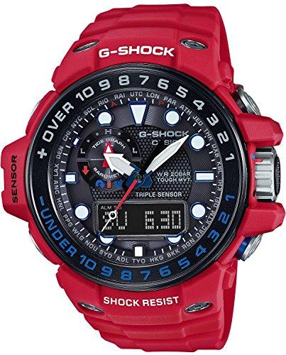 Casio G-Shock Gulfmaster Black Dial Red Resin Quartz Men s Watch  GWN1000RD-4A 5dfec60bbd