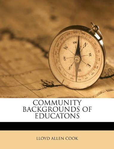 COMMUNITY BACKGROUNDS OF EDUCATONS