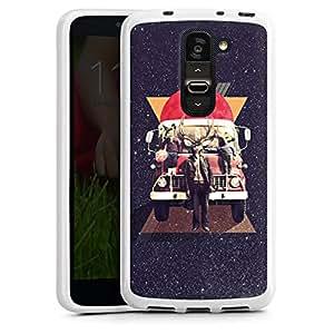 DeinDesign LG G2 mini Silikon Hülle Case Schutzhülle Hirsch Hipster Reh