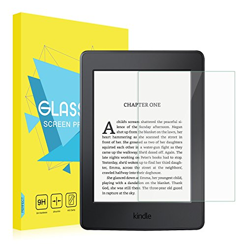 Kindle Paperwhite Folie - MoKo HD 9H Panzerglas Displayschutzfolie Glas Displayschutz Display Schutzfolie Glasfolie Screen Protector für Kindle Paperwhite (2016 / 2015 / 2013 Modelle mit 6 Zoll Display), Klar