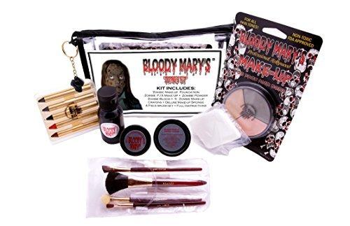 BLOODY MARY Wunden und Prothetik groß Hals (Slash Halloween Kostüme)