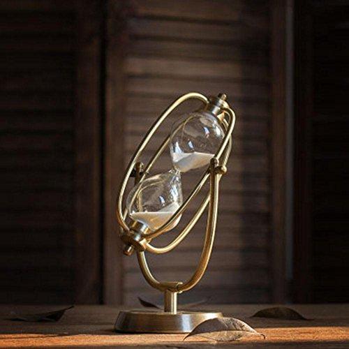 Comfot Zeit Sanduhr Dekoration Metall Sands Flasche Timer Wohnzimmer TV-Ständer Weinschrank Dekorationen, rotierenden Sanduhr , Small , 30 minutes (Kinder-tv-ständer)