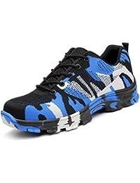 212b714f5dc AONEGOLD Zapatillas de Seguridad con Puntera de Acero Zapatos de Trabajo  Ligeros Antideslizante Senderismo Unisex-