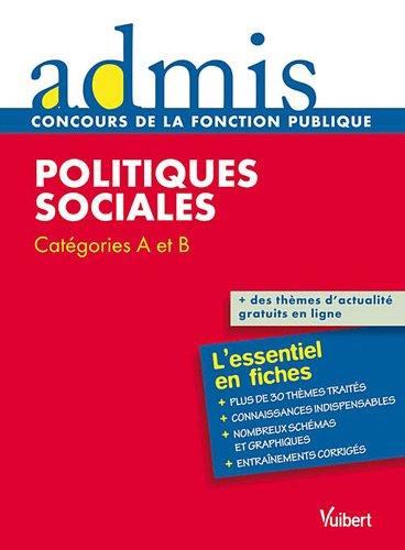 Politiques sociales - Catégories A et B - Admis - L'essentiel en fiches