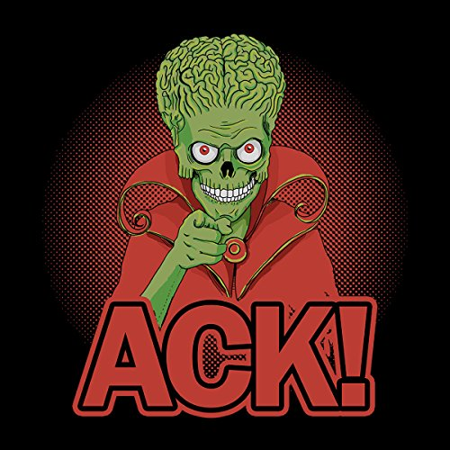 Mars Attacks Martian ACK Women's Hooded Sweatshirt Black