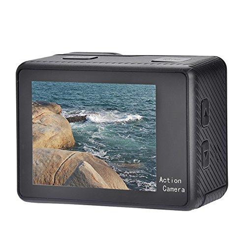Preisvergleich Produktbild Fosa 4K Full HD 1080P Doppel Bildschirme Touchscreen Sport Kamera WiFi Action Camcorder mit Fernbedienung für Überwachung, Beweglich DV, Fahren Aufnahmen usw.(schwarz)