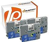 Bubprint 3 Schriftbänder kompatibel für Brother TZE-335 TZE 335 für P-Touch 1280 2430PC 2730VP 3600 9500PC 9700PC D400VP D600VP H100LB H105 P700 P750W